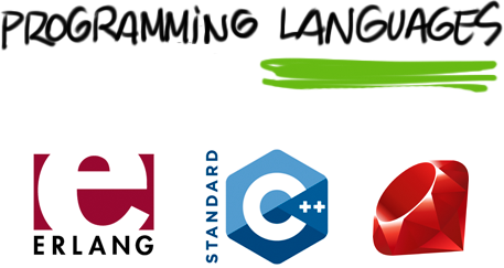 Programming Languages: Erlang, C++, Ruby