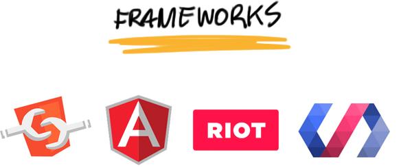 Frameworks: Web Components, Angular, Riot, Polymer